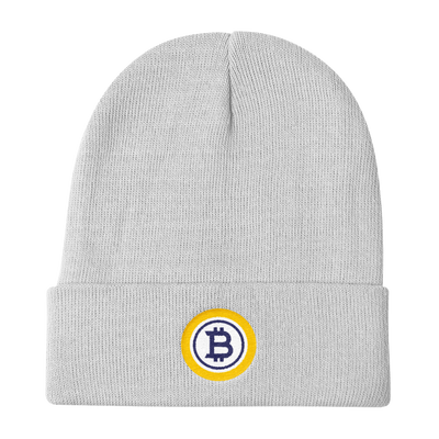 Bitcoin Gold Knit Beanie