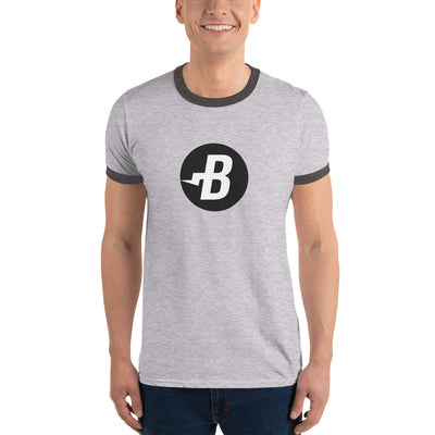 Burst Ringer Tee with Tear Away Label - Sticky Crypto