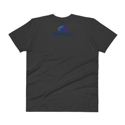 Ambrosus V-Neck T-Shirt with Tear Away Label - Sticky Crypto