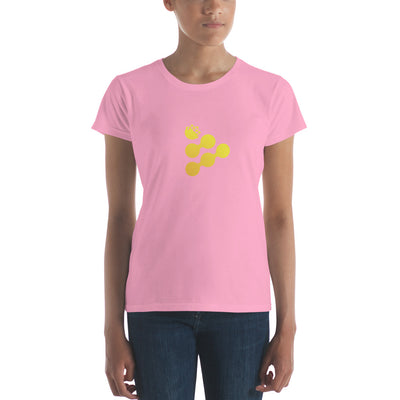 iExec RLC Ladies Ringspun Fashion Fit T-Shirt with Tear Away Label - Sticky Crypto