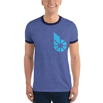 Bitshares Lightweight Ringer Tee with Tear Away Label - Sticky Crypto