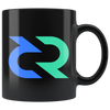 Decred Coffee Mug -- All Black - Sticky Crypto