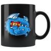 DragonChain Coffee Mug -- All Black - Sticky Crypto