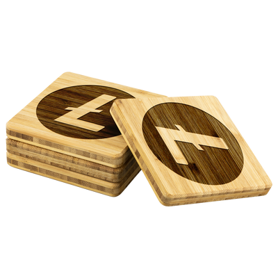 Exclusive Litecoin Bamboo Coasters - Sticky Crypto