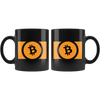 BCC Bitcoin Cash Coffee Mug -- All Black - Sticky Crypto