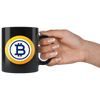 Bitcoin Gold Coffee Mug -- All Black - Sticky Crypto