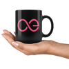 Aeternity Coffee Mug -- All Black - Sticky Crypto