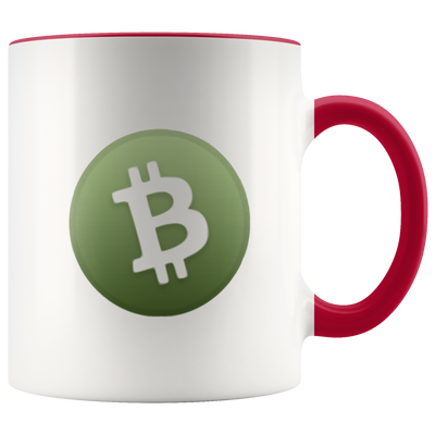 Bitcoin Cash Accent Mug - Sticky Crypto