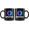 Digitex Coffee Mug -- All Black - Sticky Crypto