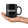 Waves Coffee Mug -- All Black