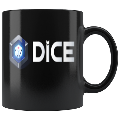 DICE Coffee Mug -- All Black - Sticky Crypto