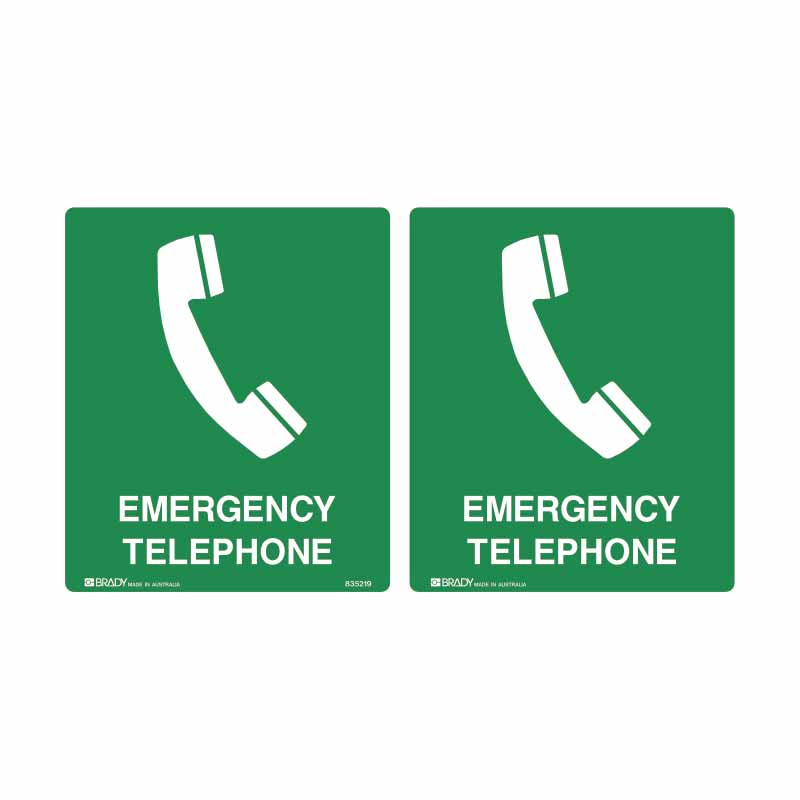 First Aid Sign - Emergency Telephone (Double Sided)