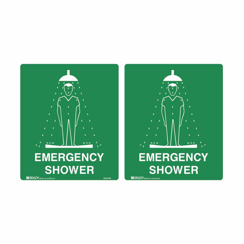 First Aid Sign - Emergency Shower (Double Sided)