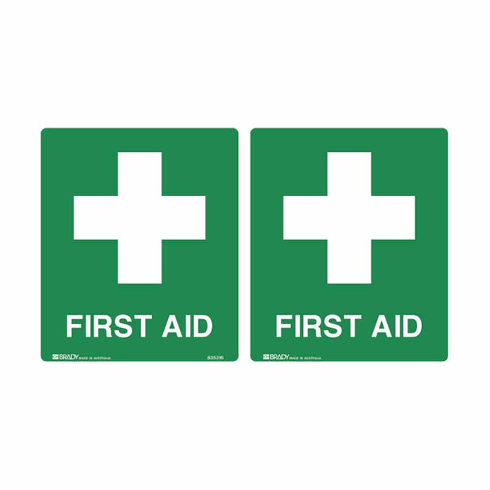 First Aid Sign - First Aid (Double Sided)