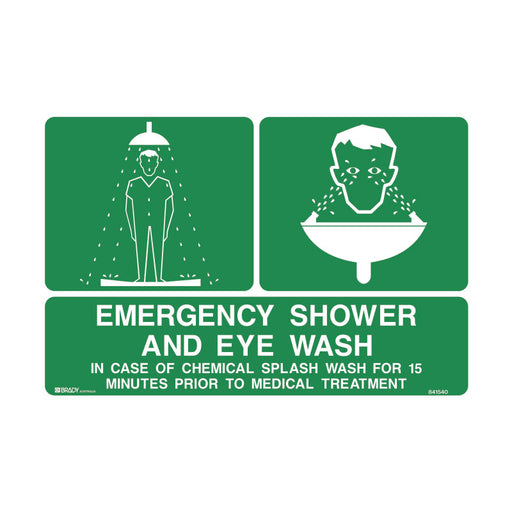 First Aid Sign - Emergency Shower and Eye Wash