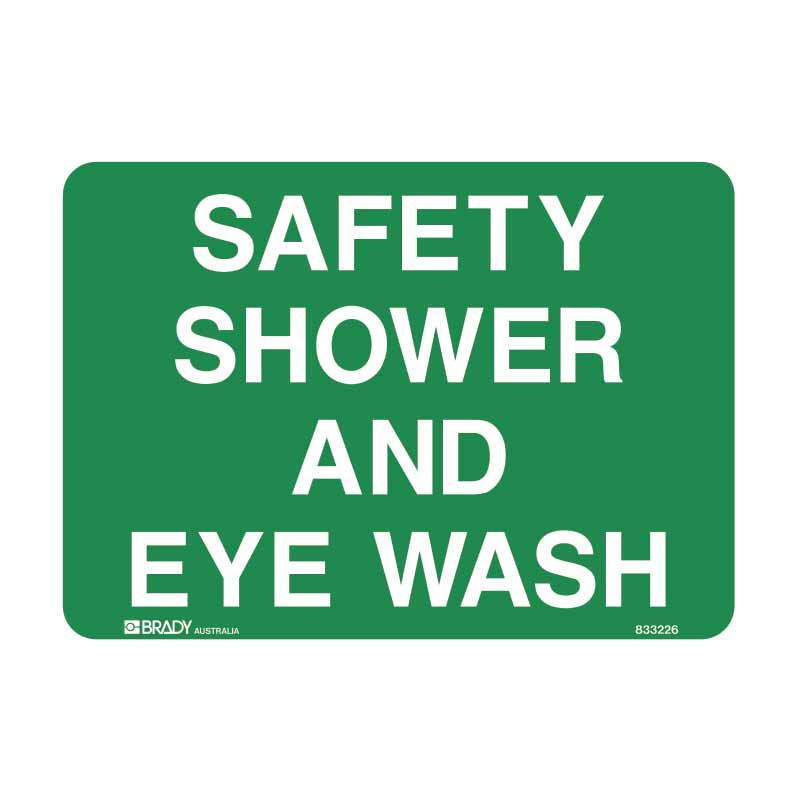 First Aid Sign - Safety Shower and Eye Wash
