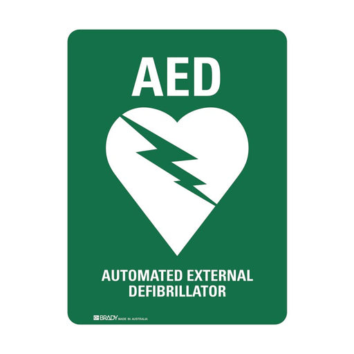 First Aid Sign - Automated External Defibrillator