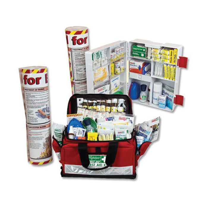 Burns First Aid Kit - Wall Mount (Plastic Case)