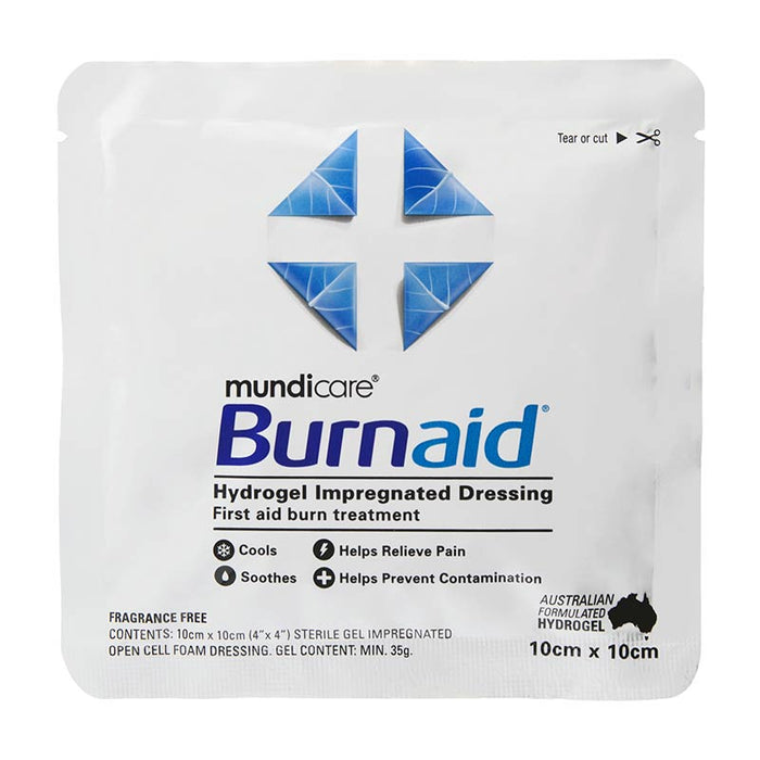 Burnaid® Burn Gel Pad Dressing, 10 x10cm