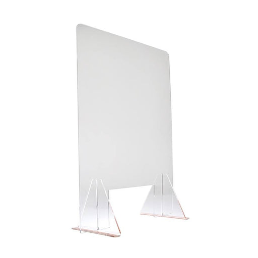 Acrylic Sneeze Guard with Stands, 600 x 800 mm
