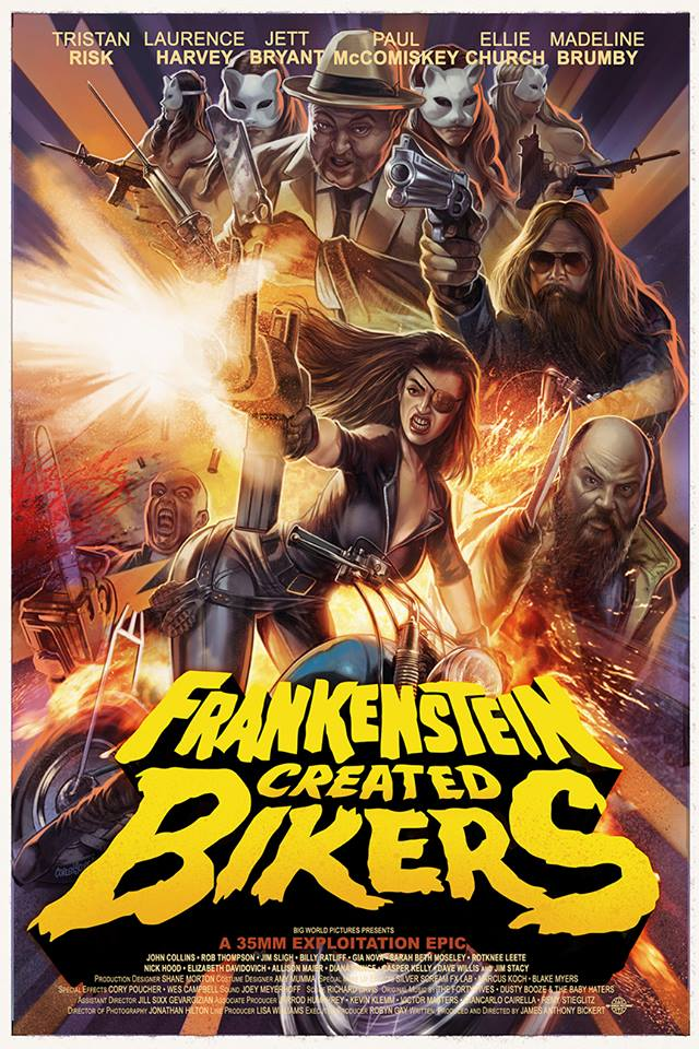 Frankenstein Created Bikers Theatrical Poster