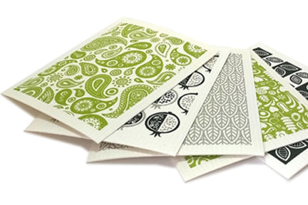 Eco-friendly Jangneus Swedish Dish Cloth - Leaves Design