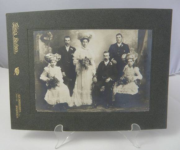 19th Century Profressional Wedding Photograph