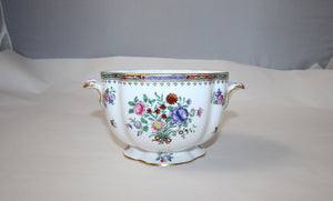 Lowestoft Flowers Handled Bowl For T Goode & Co