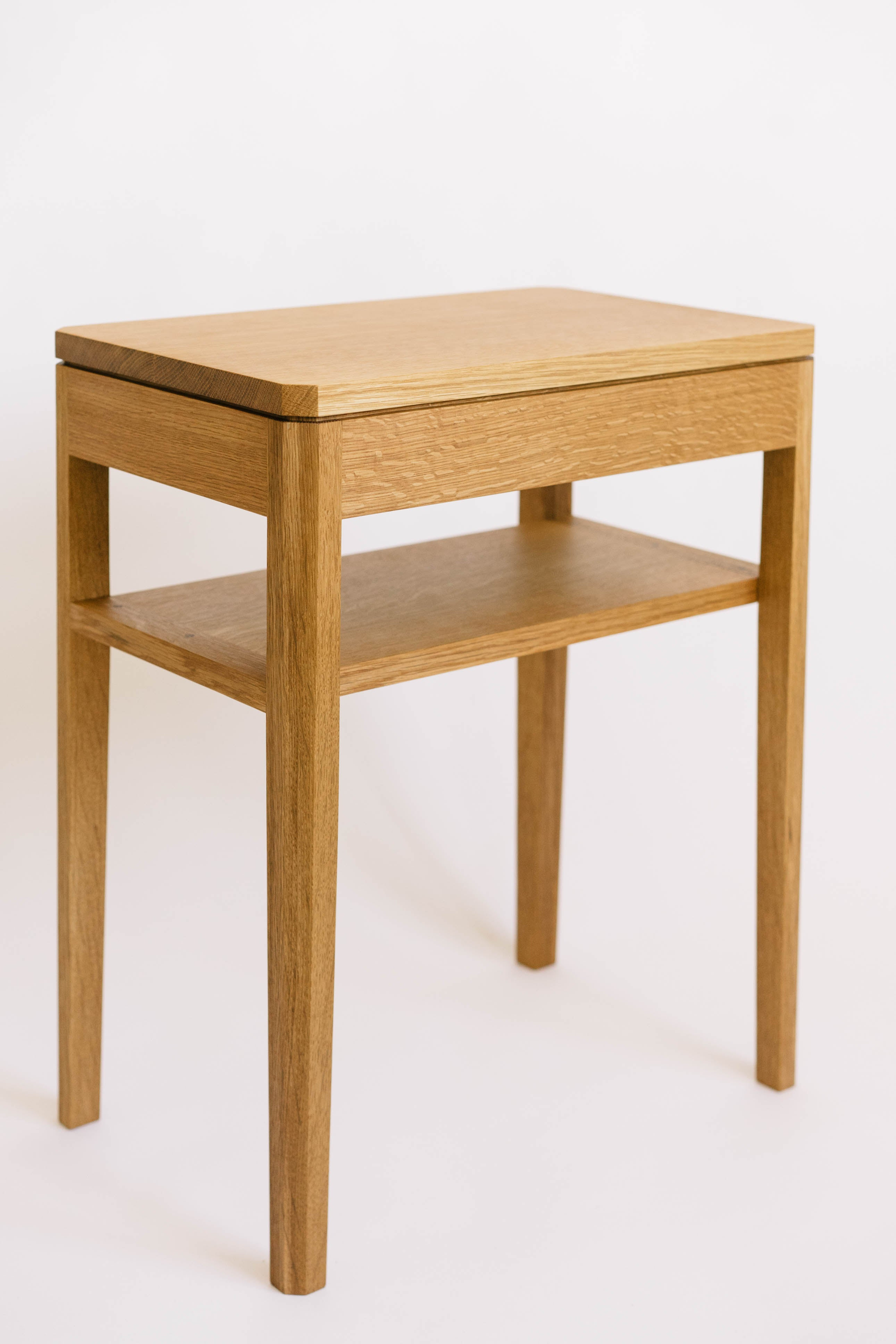 Lassen Nightstand with Shelf