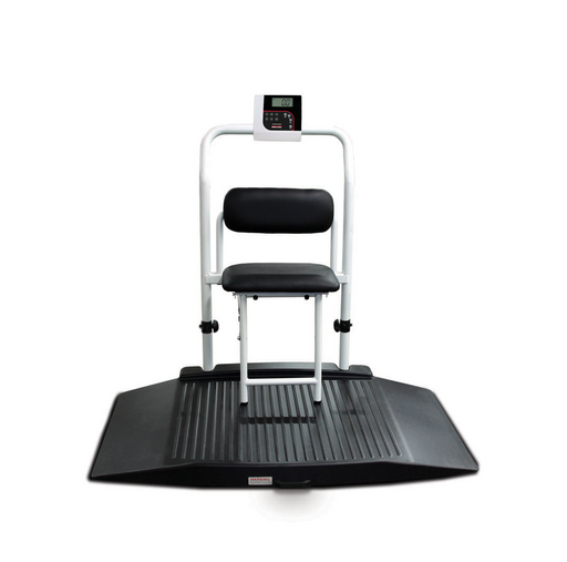 Rice Lake 350-10-4 Dual-ramp Wheelchair Scale with Seat - Discount Scale