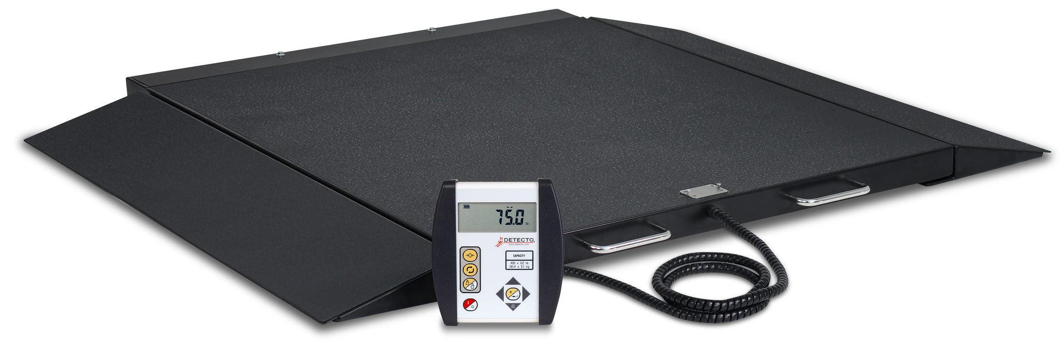 Detecto 6400 Portable Wheel Chair Scale