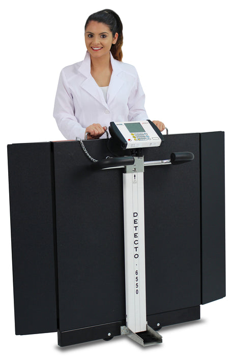 Detecto 6550 Portable Wheel Chair Scale
