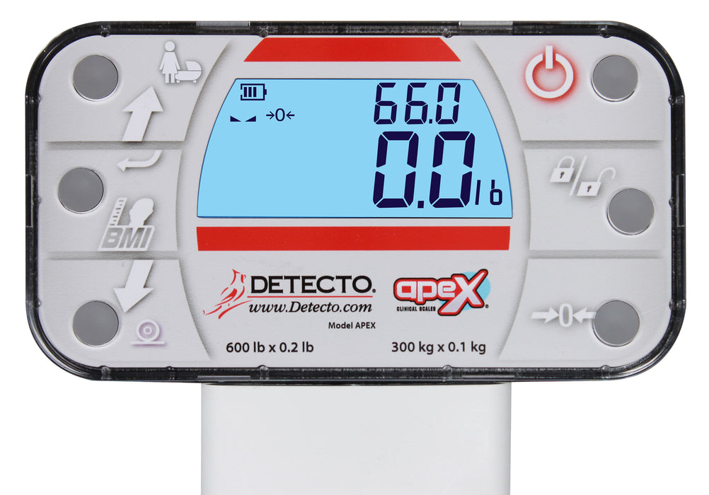 Detecto Apex Digital Scales with Sonar Height Rods