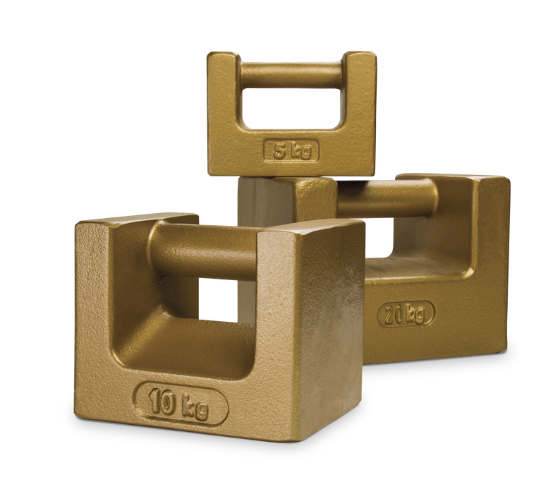 ASTM Class 5/7 Metric Cast Iron Calibration Weights - Grip Handle