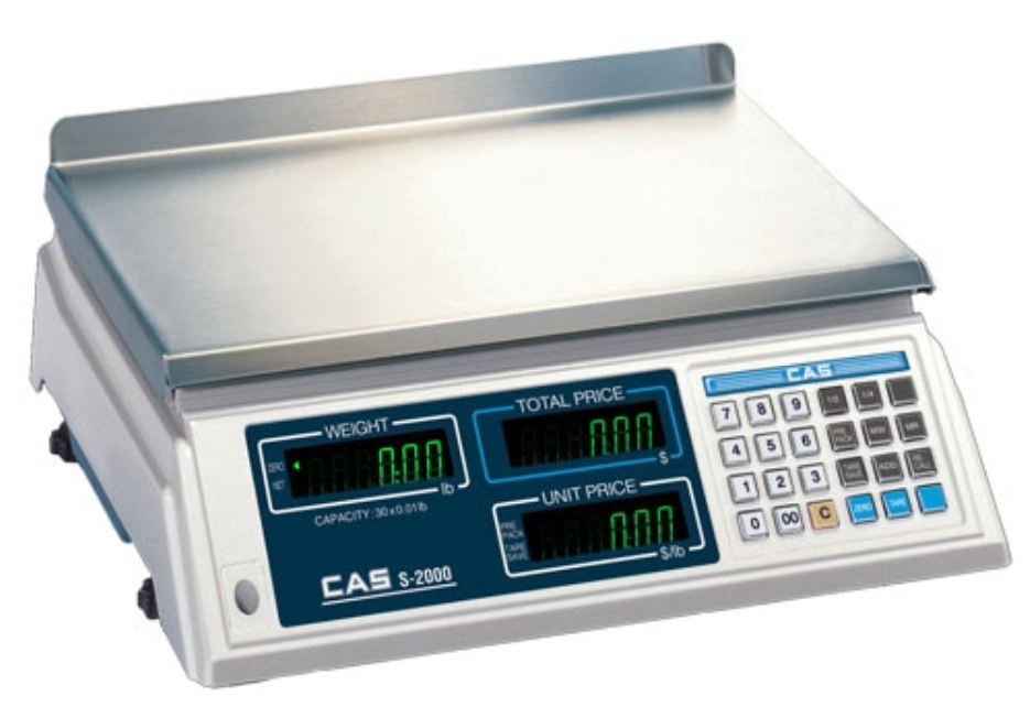 CAS S2000 Low Profile Price Computing Scale - Discount Scale