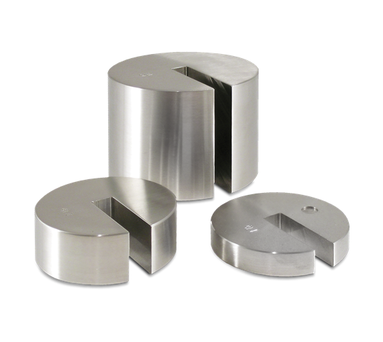 ASTM Class 5/7 Avoidupois Stainless Steel Individual Slotted Weights