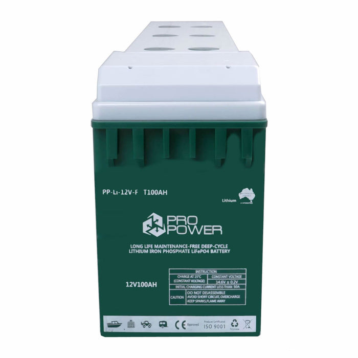 Pro Power 24V 100ah Lithium Iron LiFePo4 Deep Cycle Battery Solar 4WD Caravan - Ozimall
