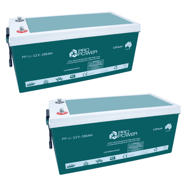 Pro Power 24V 300ah Lithium Ion LiFePo4 DeepCycle Battery Bank Solar 4WD Caravan