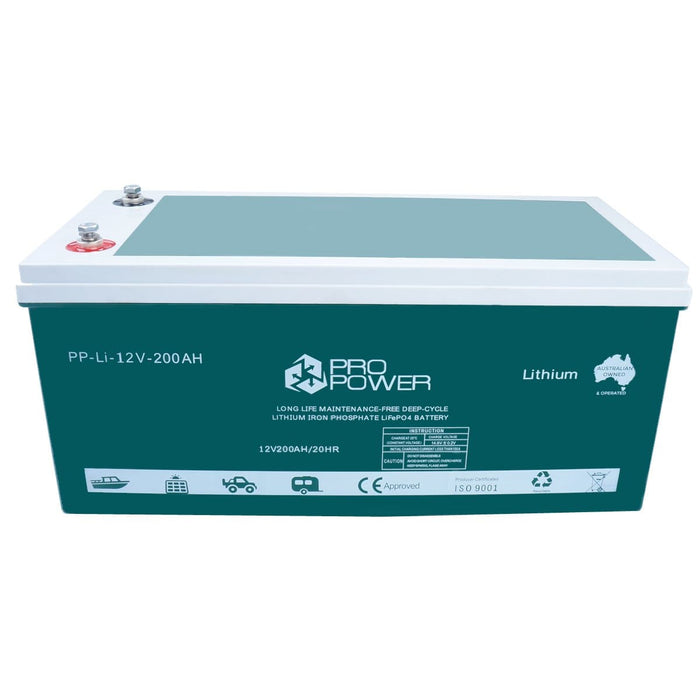 Pro Power 12V Lithium Iron Ion LiFePo4 Deep Cycle Battery Solar 4WD Caravan - Ozimall