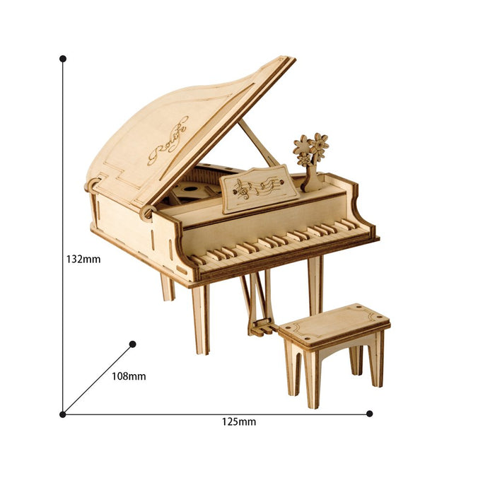Robotime Modern 3D Wooden Puzzle-Non Animals Grand Piano