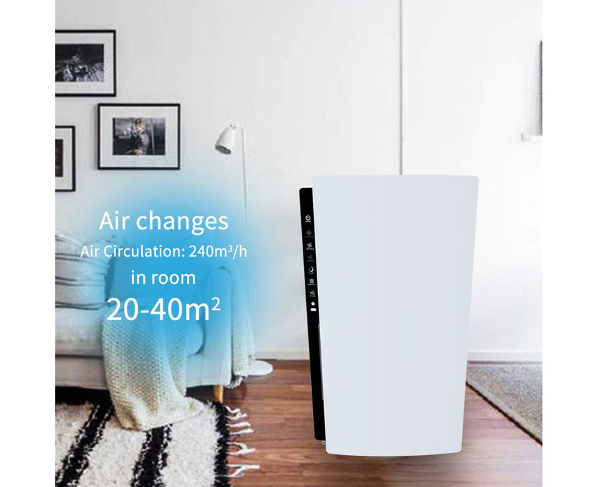 Shinco SAD-2401 Air Purifier HEPA Filter Home Freshener Carbon Ioniser 240m3/h