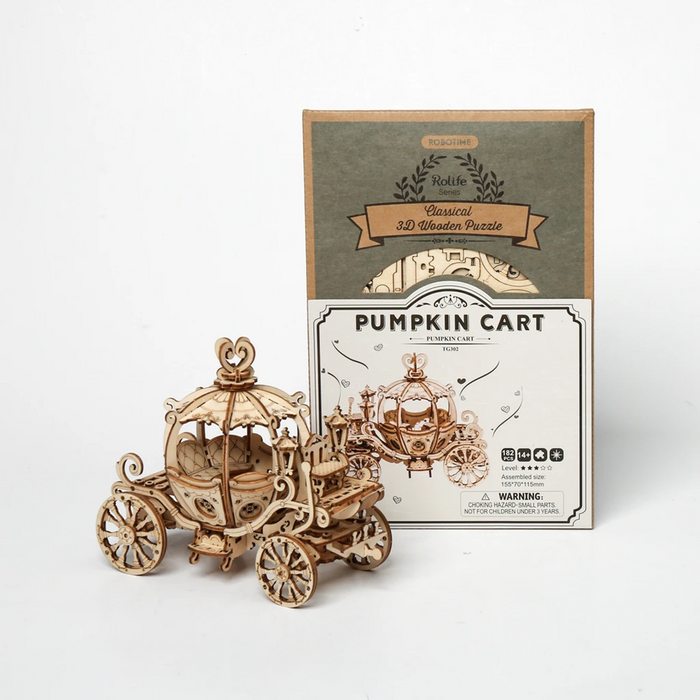 Robotime Modern 3D Wooden Puzzle-Non Animals Pumpkin Carriage
