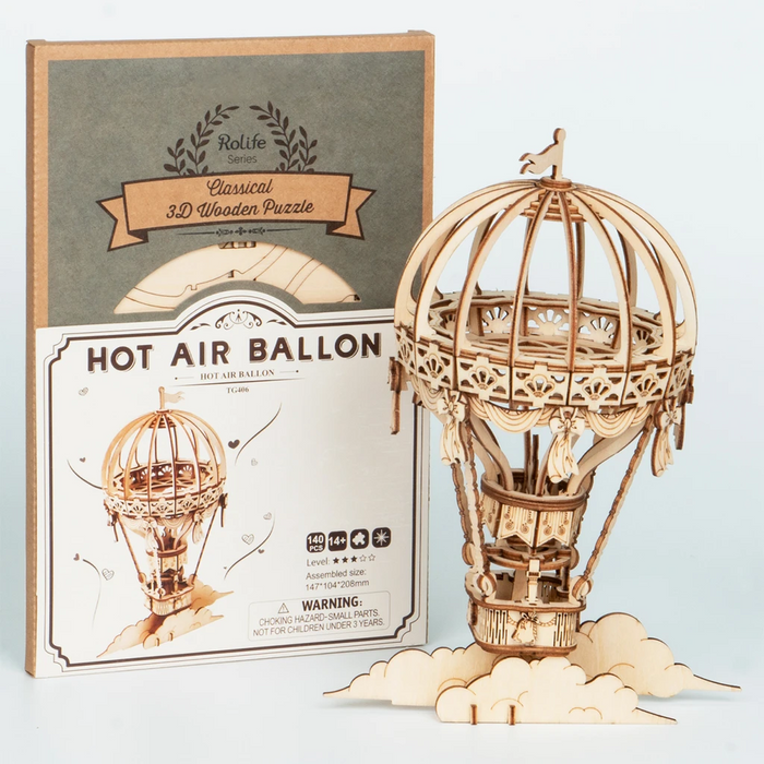 Robotime Modern 3D Wooden Puzzle-Non Animals Hot Air Balloon