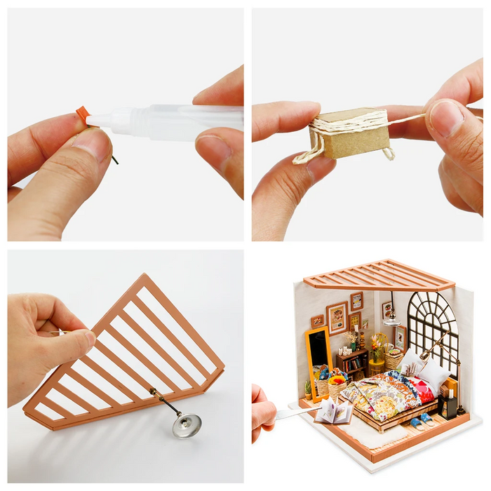 Robotime DIY Dollhouse Kit-Alice's Dreamy Bedroom