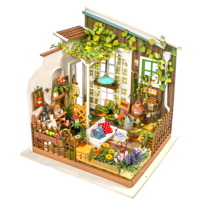Robotime DIY Dollhouse Kit-Miller's Garden