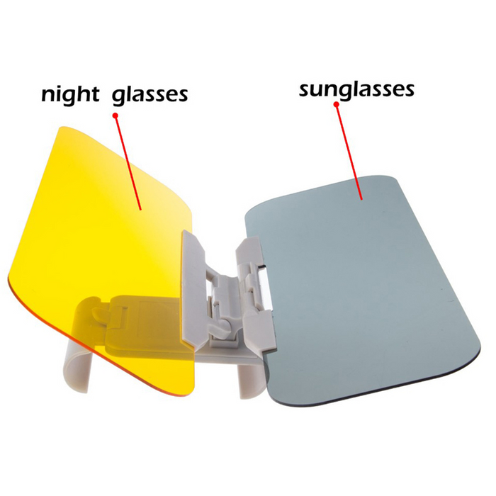 YASOKRO Car Sunshade Day and Night Sun Visor Anti-dazzle Goggles Clip-on Driving Vehicle Shield for Clear View Visor