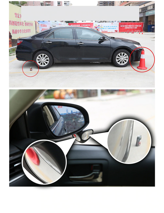 YASOKRO Car Blind Spot Mirror Wide Angle Mirror 360 Rotation Adjustable Convex Mirror for Safety Parking Car Rear View mirror