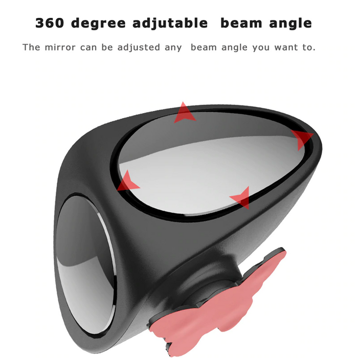 YASOKRO Car Blind Spot Mirror Wide Angle Mirror 360 Rotation Adjustable Convex Mirror for Safety Parking Right Rear View mirror