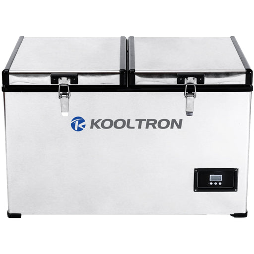 Kooltron 75L Stainless Steel Dual Compartment Fridge / Freezer Camping 12v24v 240v - Ozimall