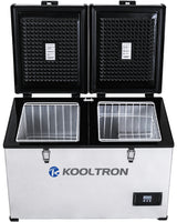 Kooltron 100L Stainless Steel Dual Compartment Fridge / Freezer Camping 12v24v 240v